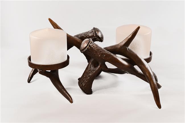 Bronze Antler Candleholders